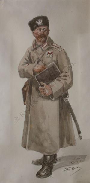 Tadeusz Rybkowski (1848-1926), Oficer carski (1914)