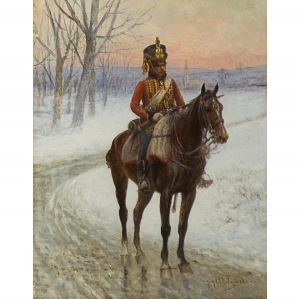 Jan V Chełmiński (1851 Brzustów - 1925 Nowy Jork), Szaser Gwardii Cesarskiej