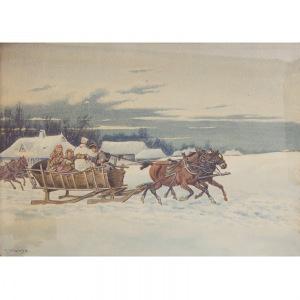 Marian Jankowski (XX w.), Zimowy zaprzęg