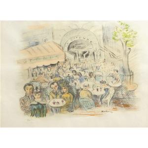 Mojżesz Kisling (1891 Kraków - 1953 Paryż), Cafe La Rotonde