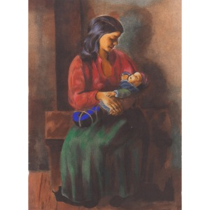 Mojżesz Kisling (1891 Kraków - 1953 Paryż), Macierzyństwo, 1952
