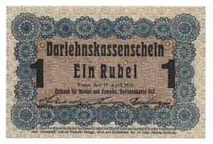 Poznań - Posen - 1 rubel 1916