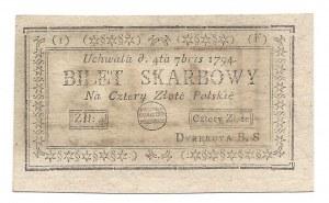 4 złote 1794 (I) (F) - banknot z kolekcji LUCOW -