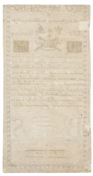 10 złotych 1794 - B- herbowy znak wodny -