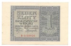 1 złoty 1940 - B -