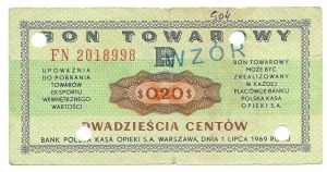 PEWEX 20 centów 1969 - FN - WZÓR