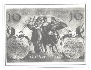 Odbitka rewersu banknotu 10 złotych 1926 - kolekcja LUCOW