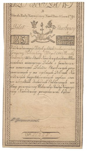 25 złotych 1794 - B - J HONIG & ZOONEN
