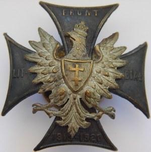 Odznaka Front Litewsko - Białoruski 1919 1920 z legitymacją.