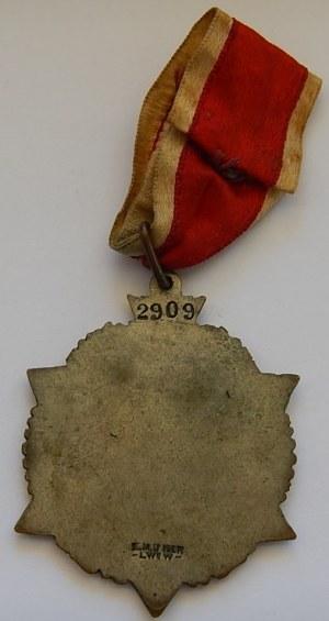 Odznaka Gwiazda Przemyśla - Obrońcom Przemyśla 16.V.1919 + wstążka z okuciem