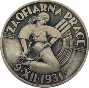 Za ofiarną pracę - II spis ludności 9.XII.1931 - srebro
