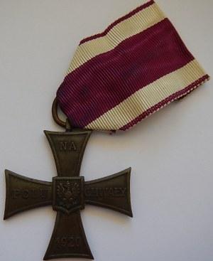 Krzyż Walecznych - Na Polu Chwały - 1920 - numerowana 5846 + legitymacje