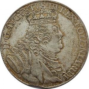 August III Sas - ort 1754 - Lipsk EC - szerokie popiersie. PIĘKNY