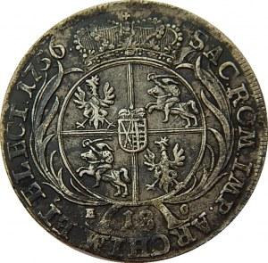 August III Sas - ort 1756 - Lipsk EC - szerokie popiersie.