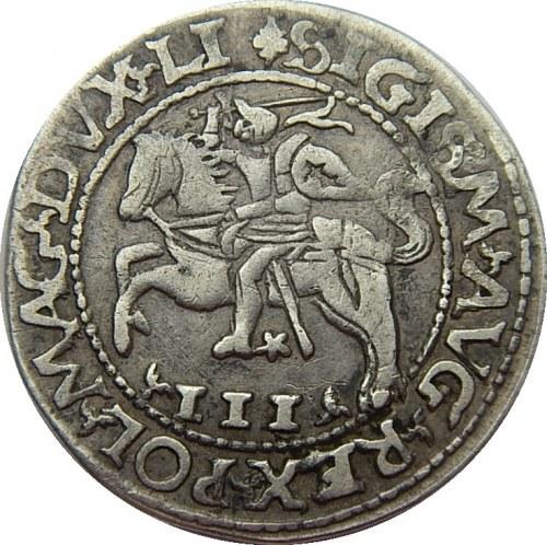 Zygmunt II August - trojak szyderczy 1565 z kolekcji Antoniego Ryszarda (AR)