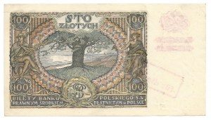 100 złotych 1932 - AZ - fałszywy nadruk, dodatkowy znak +X+