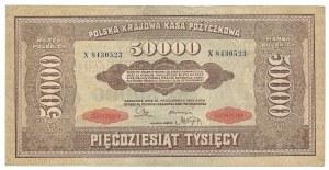 50.000 marek polskich 1922 - X - data 1822