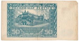 50 złotych 1941 - destrukt