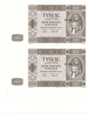 1.000 złotych 1941 - podwójny destrukt