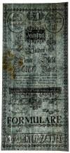 Austria 50 guldenów 1784 FORMULARZ