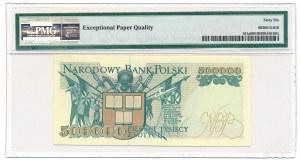 500.000 złotych 1993 -A- PMG 66 EPQ - rzadka, pierwsza seria
