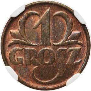 1 grosz 1935 - NGC MS63 RB