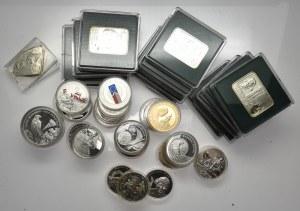 Zestaw lustrzanek 10 i 20 złotych z różnych lat - 58 sztuk