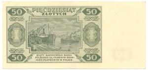 50 złotych 1948 -BG- rare prefix