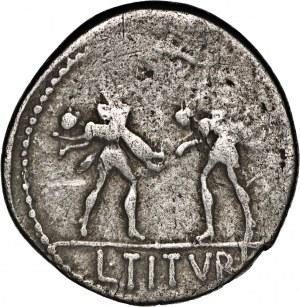 Republika Rzymska, L. Titurius L. f. Sabinus 89 p.n.e., denar 89 p.n.e., Rzym,