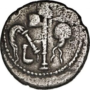 Republika Rzymska, Juliusz Cezar (49-48 p.n.e.), denar 49-48 p.n.e., mennica ruchoma,