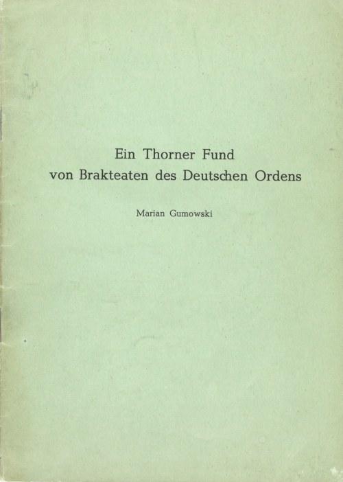 Gumowski Marian, Ein Thorner Fund von Brakteaten des Deutschen Ordens.