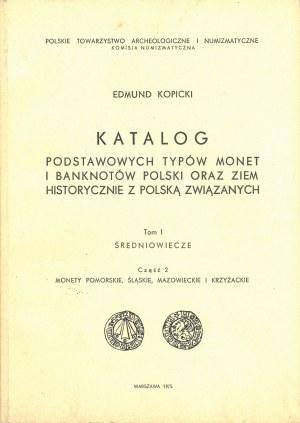 Kopicki Edmund, Katalog podstawowych typów monet i banknotów Polski oraz ziem historycznie z Polską związanych, T. I, cz. 2.