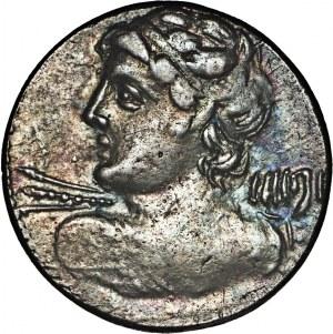 Republika Rzymska, C. Licinius L.f. Macer (84 p.n.e.), denar 84 p.n.e., Rzym.