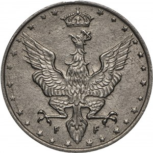 Królestwo Polskie, 20 fenigów 1917, Stuttgart.