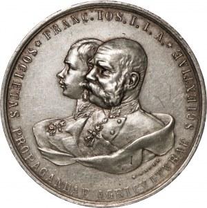 Austria, Medal z okazji 50-lecia panowania cesarza Franciszka Józefa, 1848-1898.