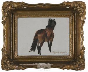 Wojciech Kossak, Kasztanowy koń, 1917