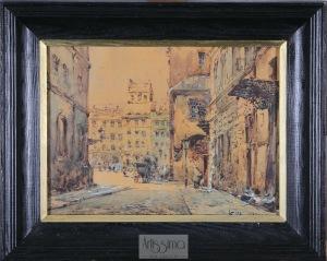 Władysław Chmieliński (Stachowicz), Rynek Starego Miasta w Warszawie, przed 1939