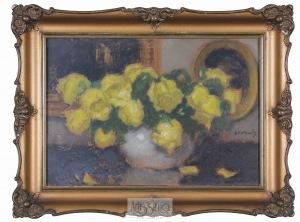 Alfons Karpiński, Żółte róże w wazonie