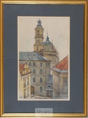 Tadeusz Cieślewski (ojciec), Sanktuarium Matki Bożej Łaskawej – widok od ul. Kanonia
