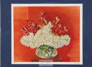 Mojżesz Moise Kisling, Kwiaty w szklanym wazonie