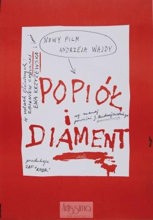 Wojciech Fangor, Plakat filmowy Popiół i diament, 1974