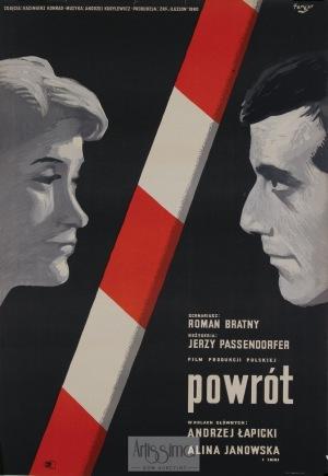 Wojciech Fangor, Plakat filmowy Powrót, 1960