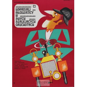 Eryk Lipiński, Plakat filmowy Wspaniali młodzieńcy w swych szalejących gruchotach, 1971