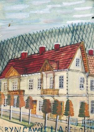 Nikifor KRYNICKI (1895-1968), Willa w Krynicy