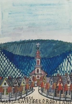 Nikifor KRYNICKI (1895-1968), Kościół u szczytu drogi