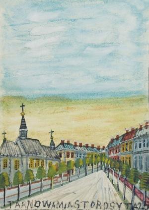 Nikifor KRYNICKI (1895-1968), Uliczka w miasteczku