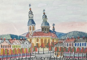 Nikifor KRYNICKI (1895-1968), Domy i kościół