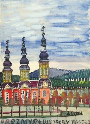 Nikifor KRYNICKI (1895-1968), Kościół z trzema wieżami