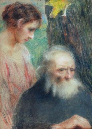 Teodor AXENTOWICZ (1859-1938), Starość i młodość