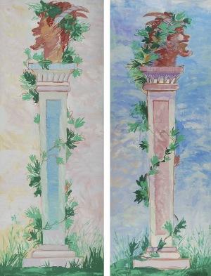 Tadeusz GRONOWSKI (1894-1990), Dwa projekty parawanu - kolumny